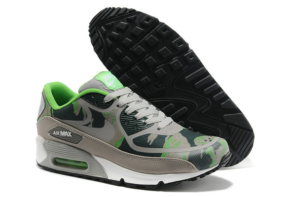 Nike Air Max 90 PREM TAPE Grey Green Women Shoes