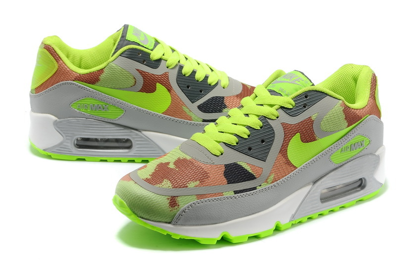 Women Nike Air Max 90 PREM TAPE Grey Green Shoes