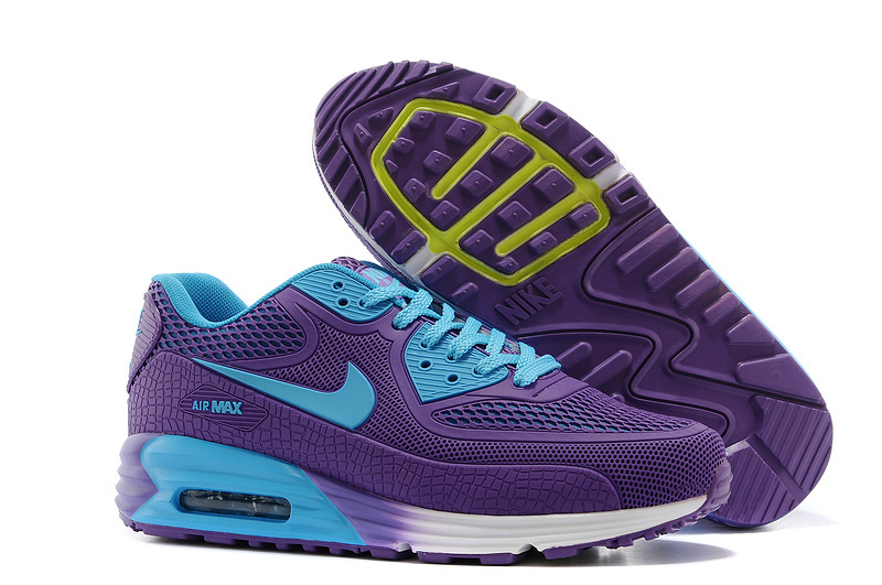 Nike Air Max 90 Rubber Patch 25th Anniversary Peach Purple Blue For Women