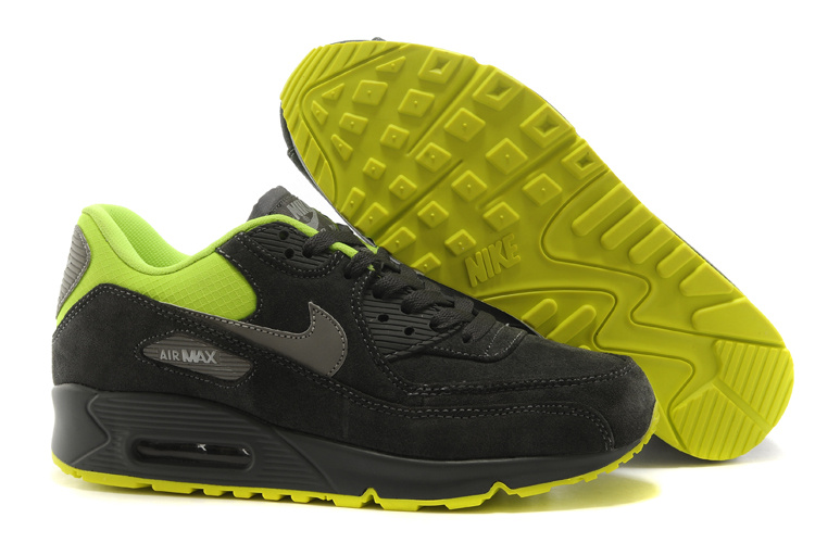 Nike Air Max 90 Suede Wool Black Green Shoes
