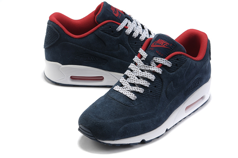 Nike Air Max 90 VT PRM Shoes Dark Blue White Red