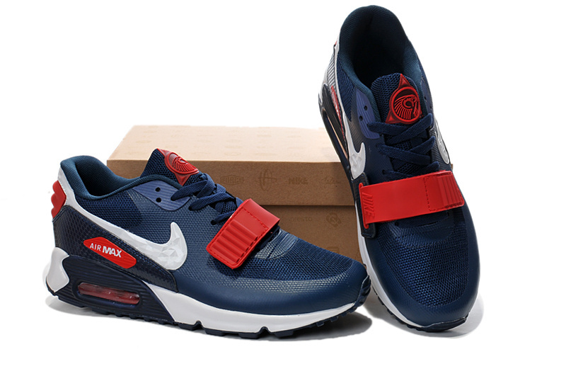 Nike Air Max 90 Yeezy Blue Red White Shoes