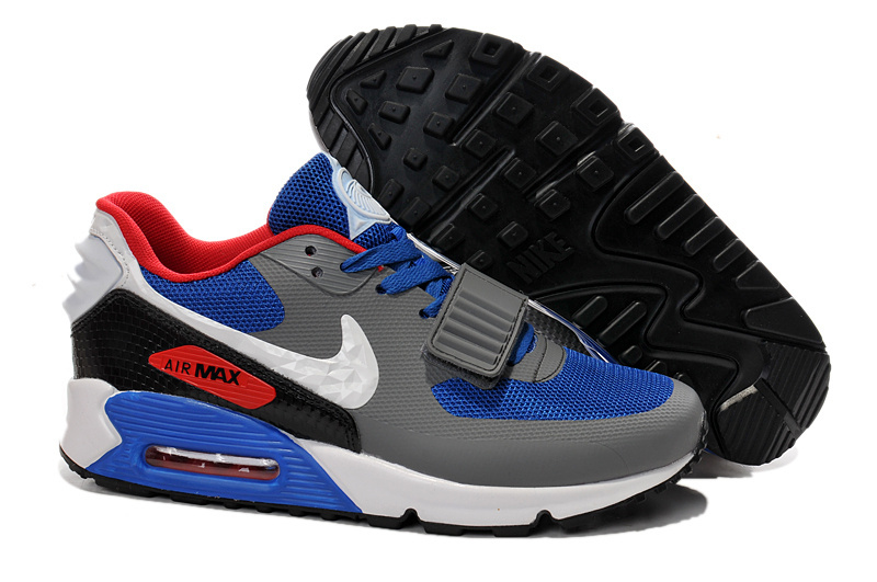 Nike Air Max 90 Yeezy Grey Blue Red Shoes