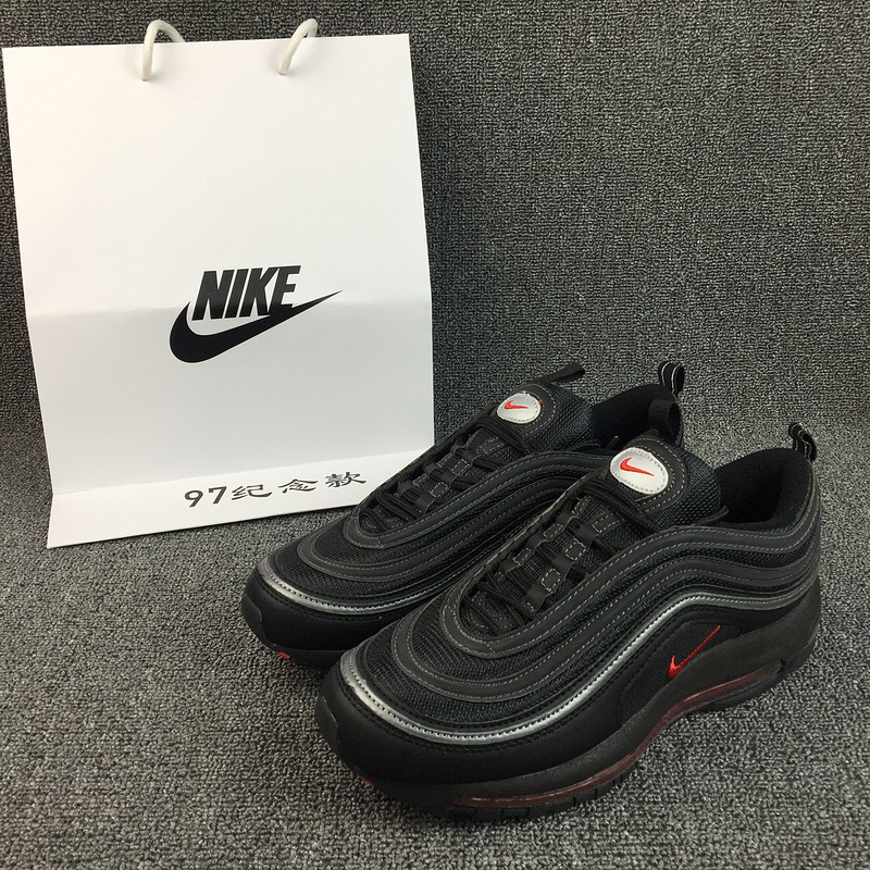 New Nike Air Max 97 All Black Running Shoes