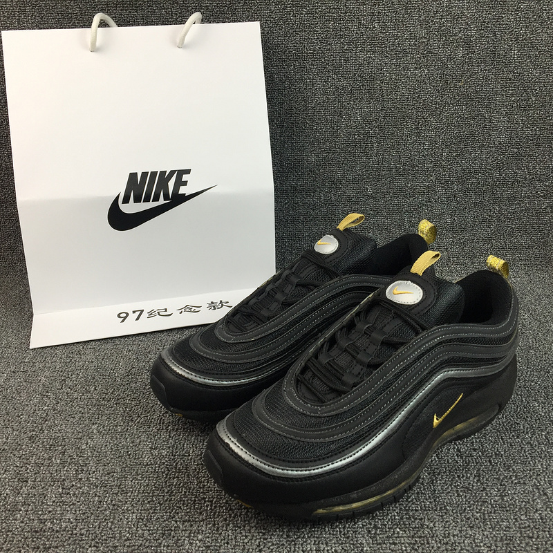 sale retailer 2b776 5859b ... 2017 Nike Air Max 97 Black White Yellow Shoes