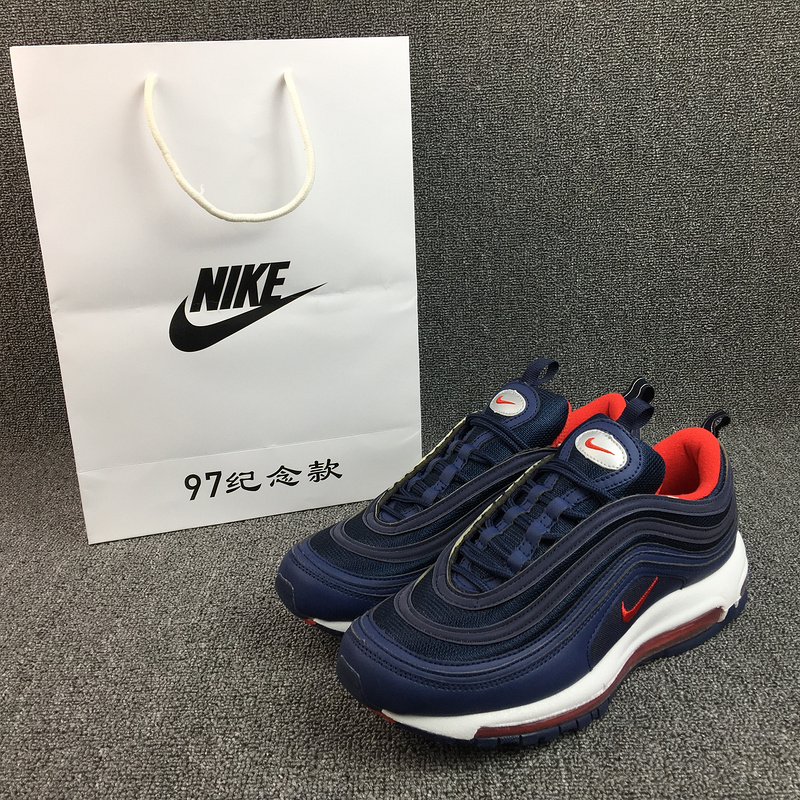 New Nike Air Max 97 Royal Blue Red Running Shoes