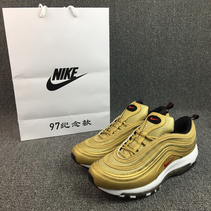 New Nike Air Max 97 Yellow White Running Shoes