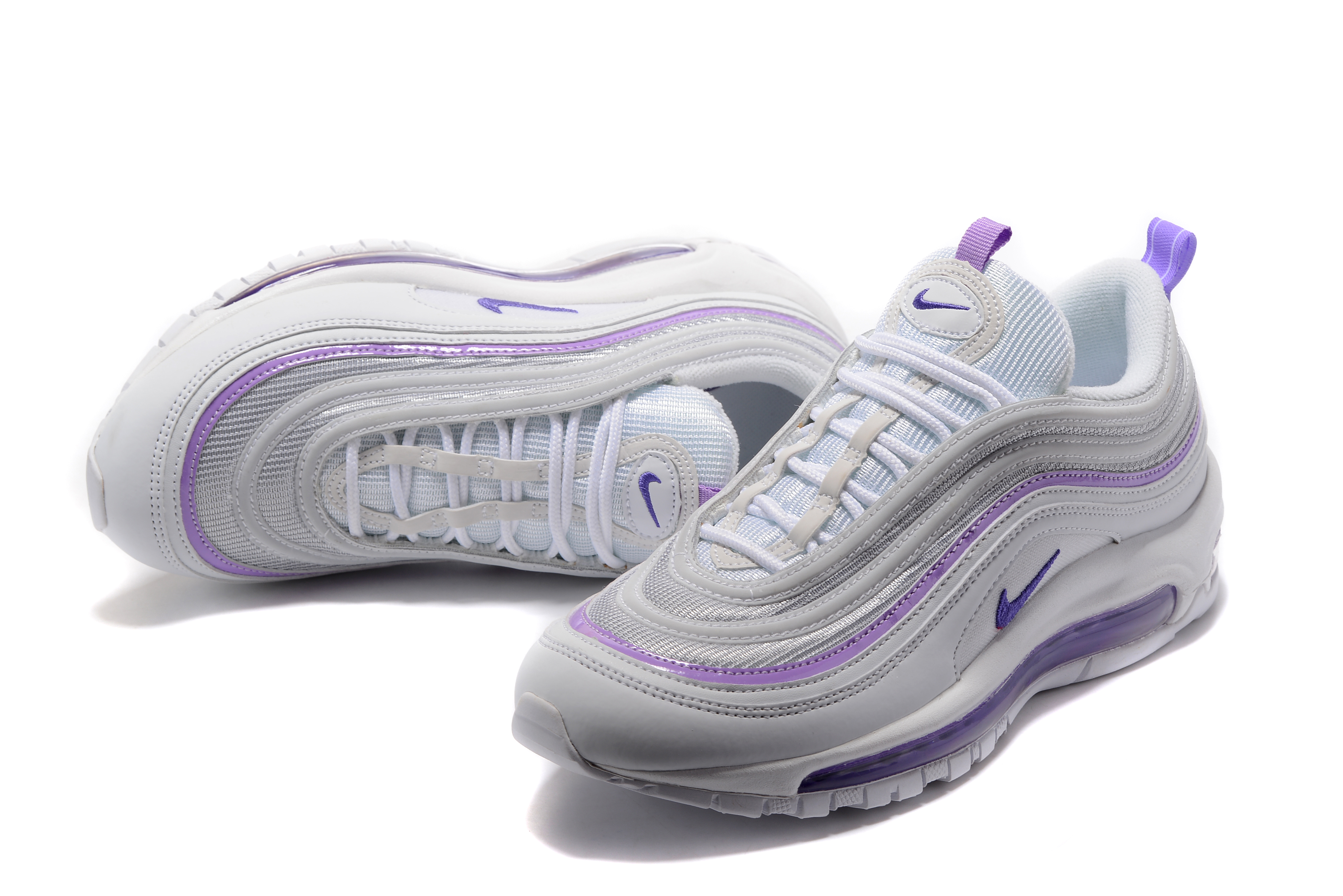 best loved 31680 18903 ... Nike Air Max 97 Grey Purple For Women ...