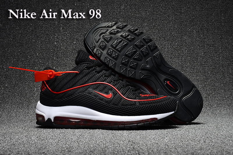 Nike Air Max 98 Black Red Shoes