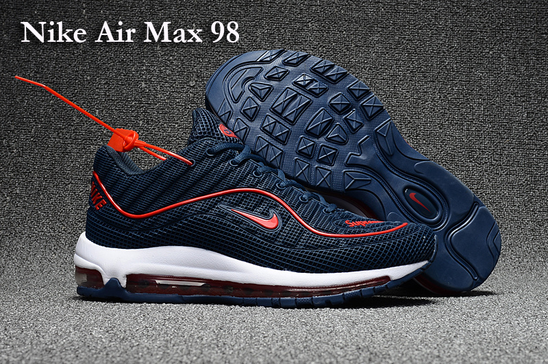 Nike Air Max 98 Blue Red White Shoes