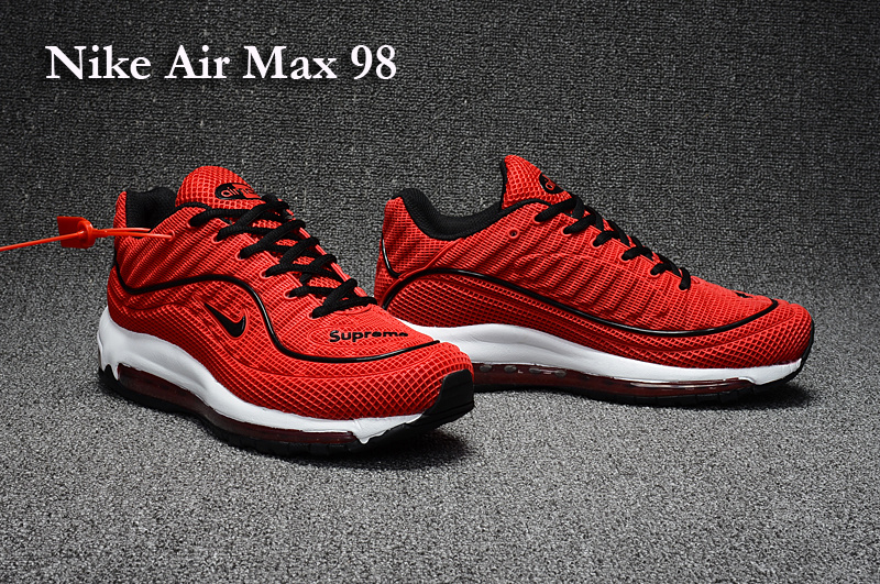 Nike Air Max 98 Red Black Shoes