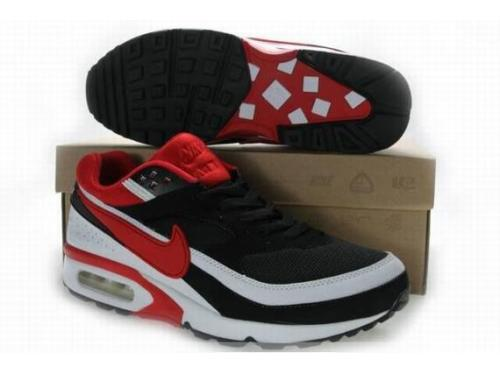 Nike Air Max BW Shoes Black Red White