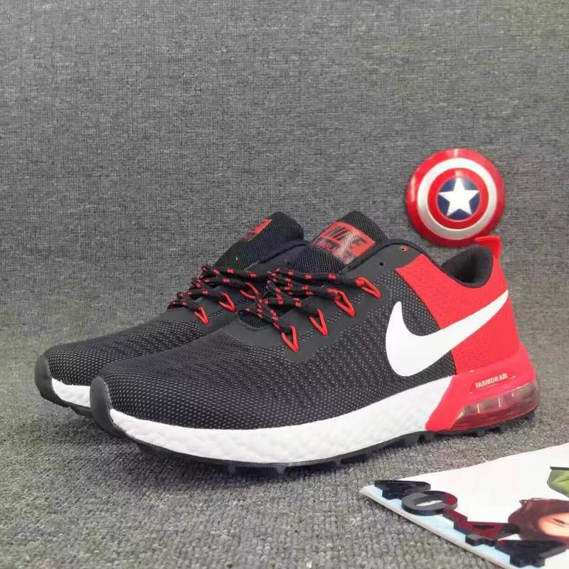 2017 Nike Air Max Lunarlaunch Black Red Running Shoes