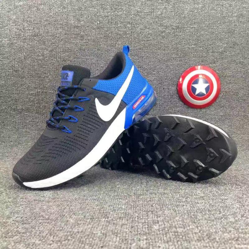 2017 Nike Air Max Lunarlaunch Royal Blue Black Running Shoes