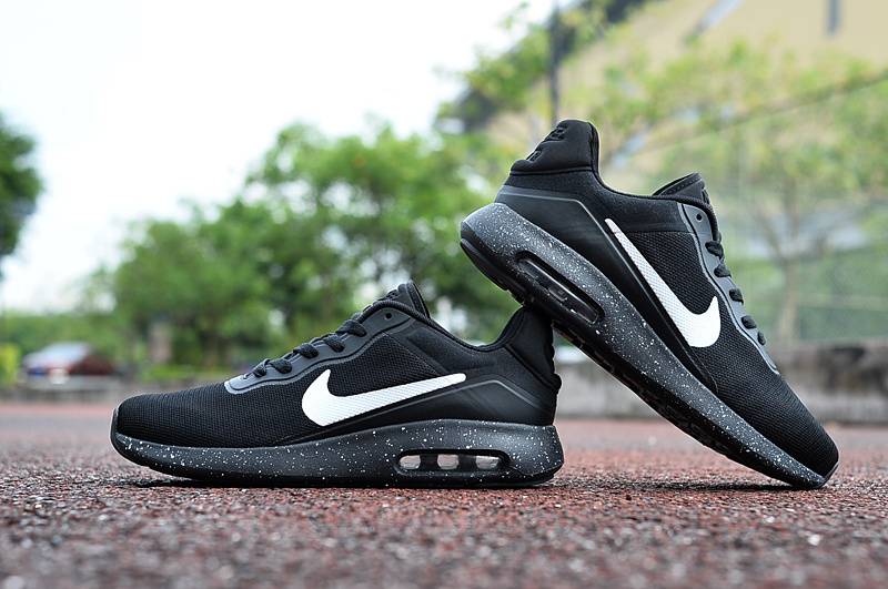 2017 Nike Air Max Modern All Black White Shoes