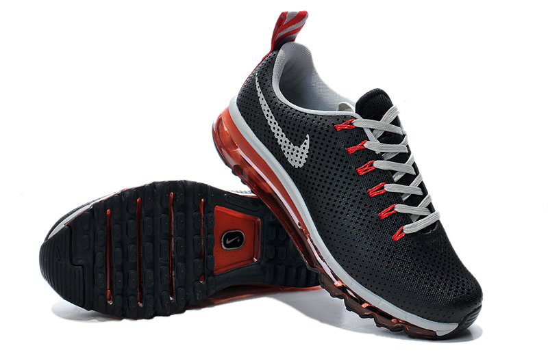 Nike Air Max Motion 2014 Black Grey Red Shoes