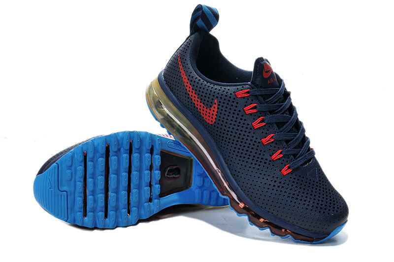 Nike Air Max Motion 2014 Deep Blue Red Shoes