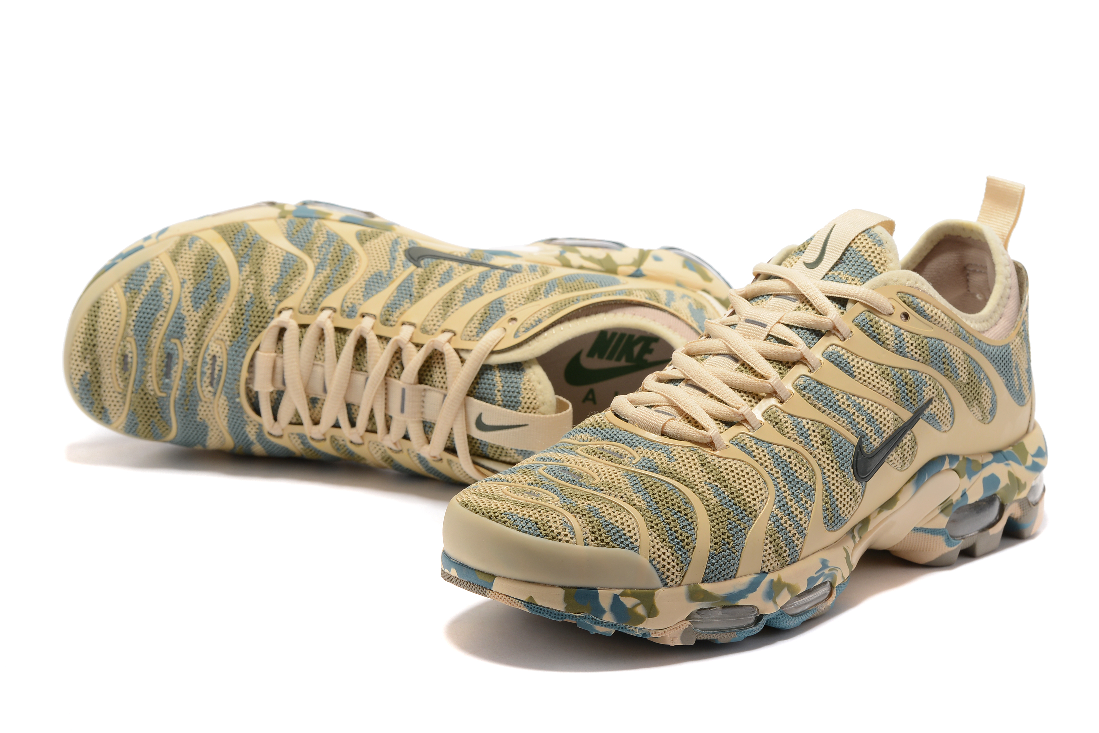 Nike Air Max Plus TN Camo Yellow Green Shoes