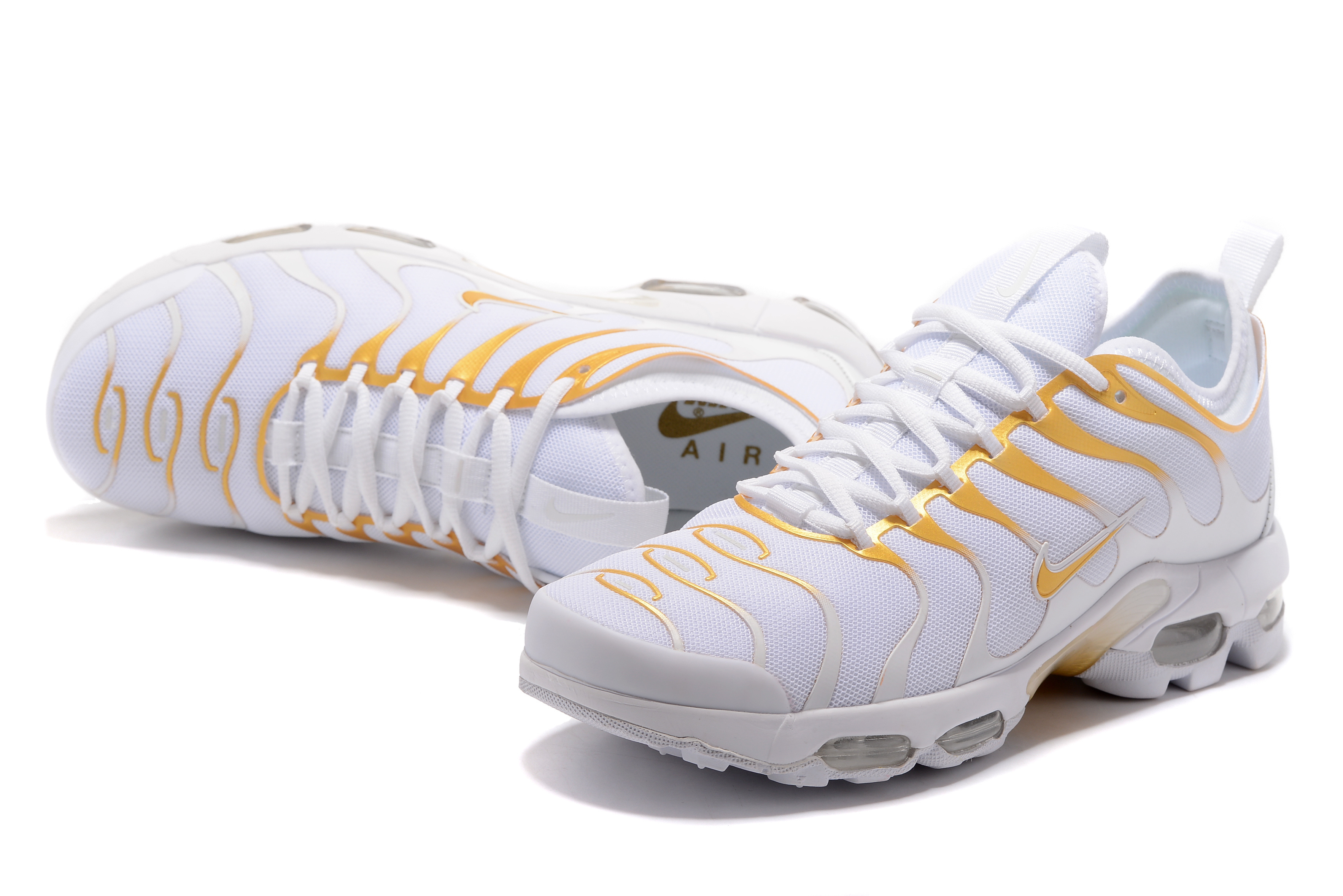 Nike Air Max Plus TN White Yellow Shoes