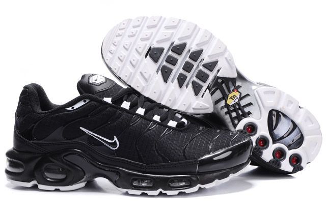 Nike Air Max TN Shoes Black White Logo