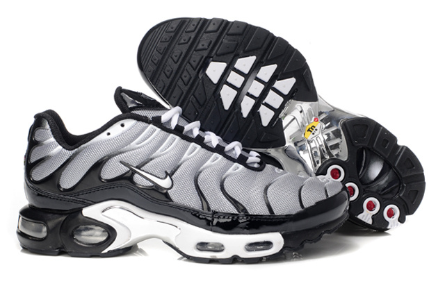 Nike Air Max TN Shoes Grey Black White Logo
