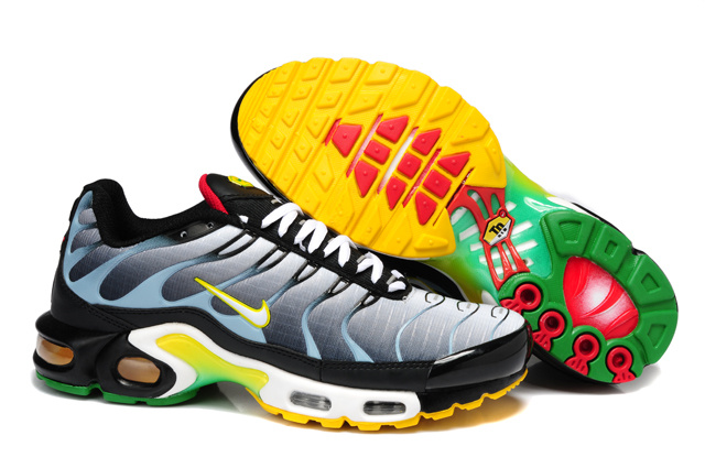 Nike Air Max TN Shoes Grey Black Yellow White
