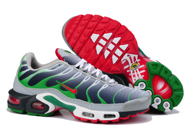 Nike Air Max TN Shoes Grey Blue Green Red