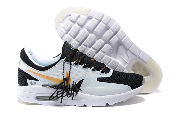 watch 9e6e9 dc387 Nike Air Max Zero 87 II Midnight Black White Yellow Women Shoes
