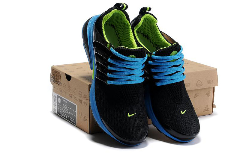New Nike Air Presto 2 Carve Black Blue Volt Sport Shoes With Big Holes