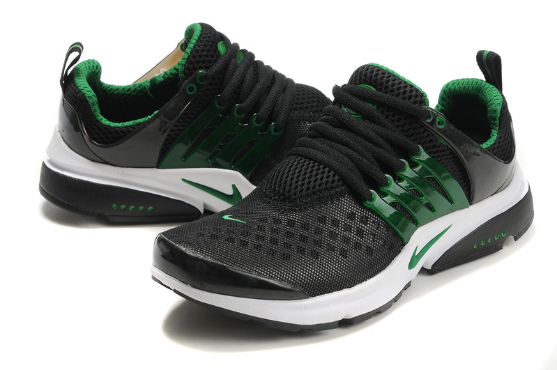 New Nike Air Presto 2 Carve Black Green White Sport Shoes With Big Holes