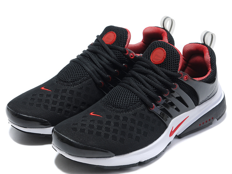 New Nike Air Presto 2 Carve Black Red White Sport Shoes With Big Holes