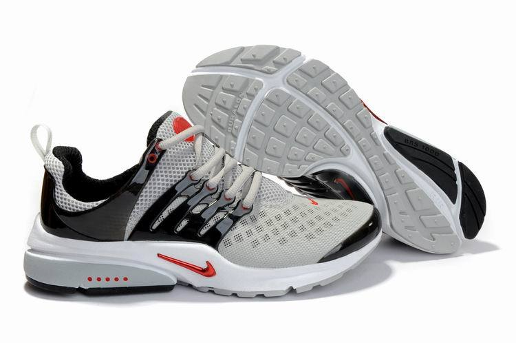 New Nike Air Presto 2 Carve Grey Black Red White Sport Shoes With Big Holes