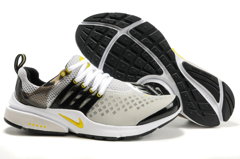 New Nike Air Presto 2 Carve Grey Black Yellow White Sport Shoes With Big Holes