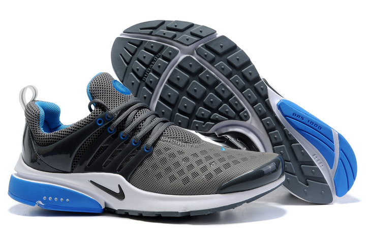 New Nike Air Presto 2 Carve Grey Blue White Sport Shoes With Big Holes