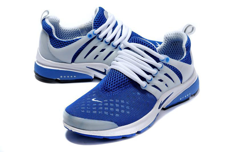 New Nike Air Presto 2 Carve Royal Blue White Sport Shoes With Big Holes
