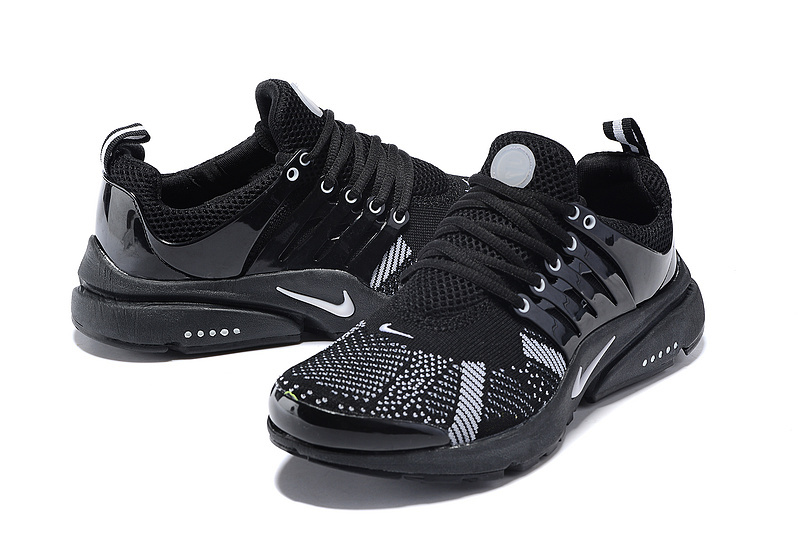 New Nike Air Presto Knit All Black Sport Shoes