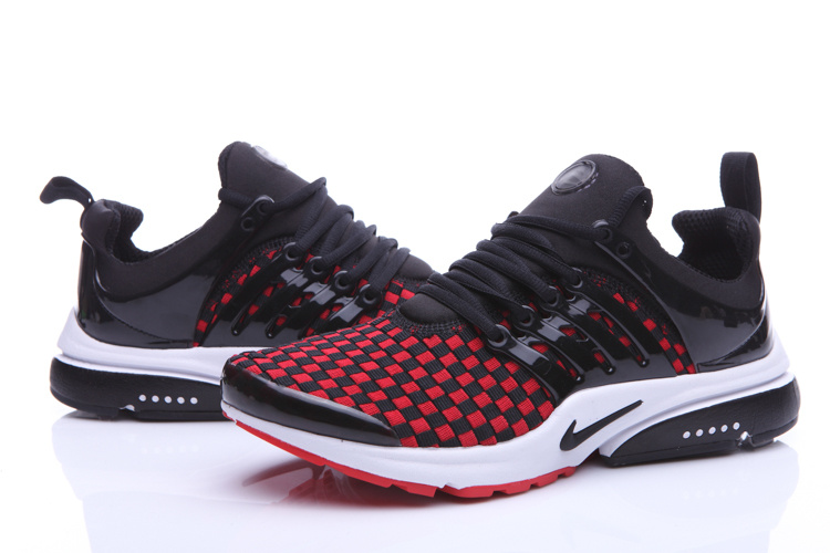 New Nike Air Presto Knit Black Red White Sport Shoes