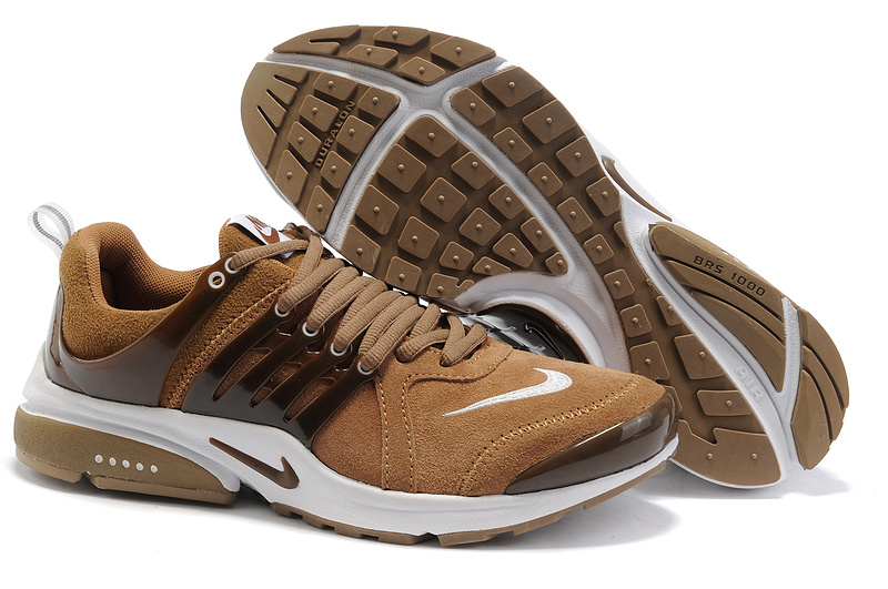 New Nike Air Presto Suede Brown White Lover Sport Shoes