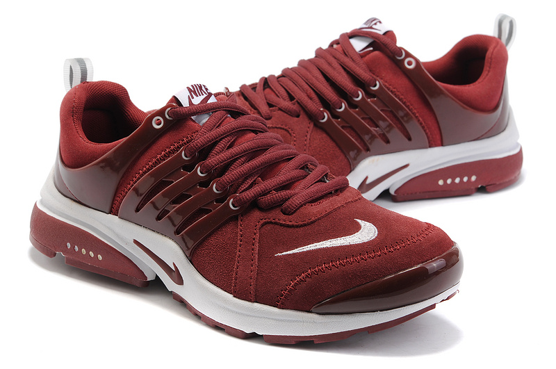 New Nike Air Presto Suede Wine Red White Lover Sport Shoes