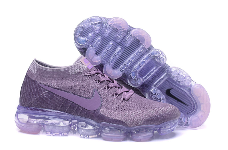 Nike Air VaporMax Flyknit Light Purple Ice Sole Shoes