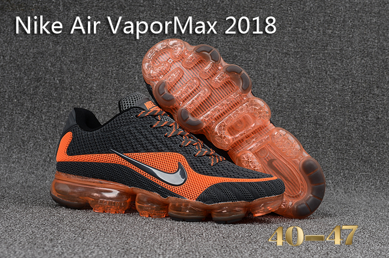 Nike Air VaporMax 2018 Black Orange Shoes