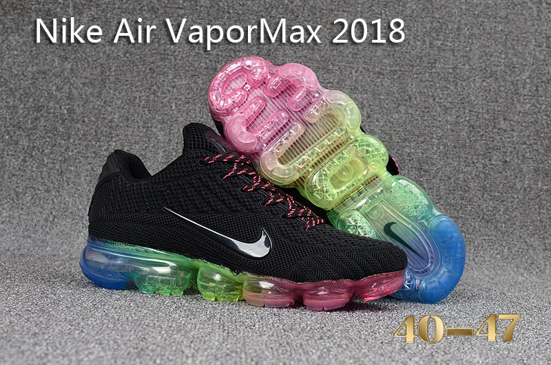 Nike Air VaporMax 2018 Black Pink Blue Shoes
