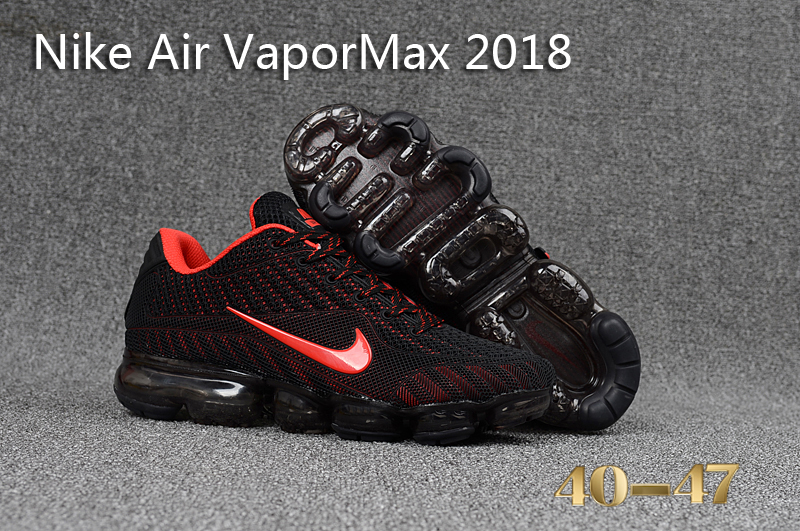 Nike Air VaporMax 2018 Black Red Shoes