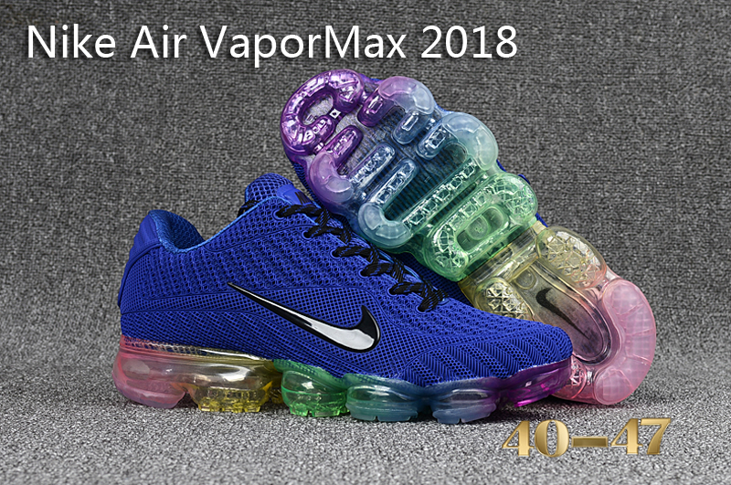 Nike Air VaporMax 2018 Blue Black Shoes