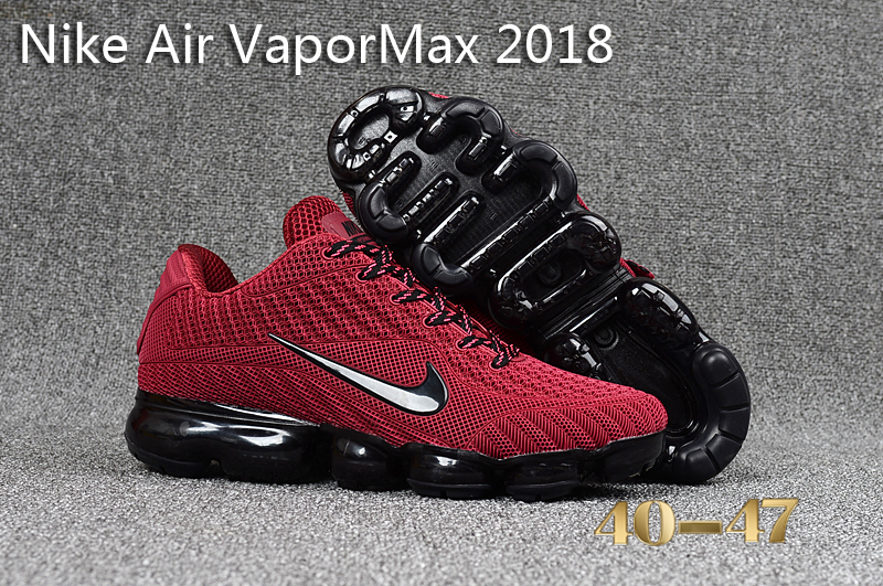 Nike Air VaporMax 2018 Red Black Shoes