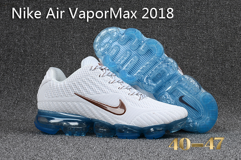Nike Air VaporMax 2018 White Blue Shoes