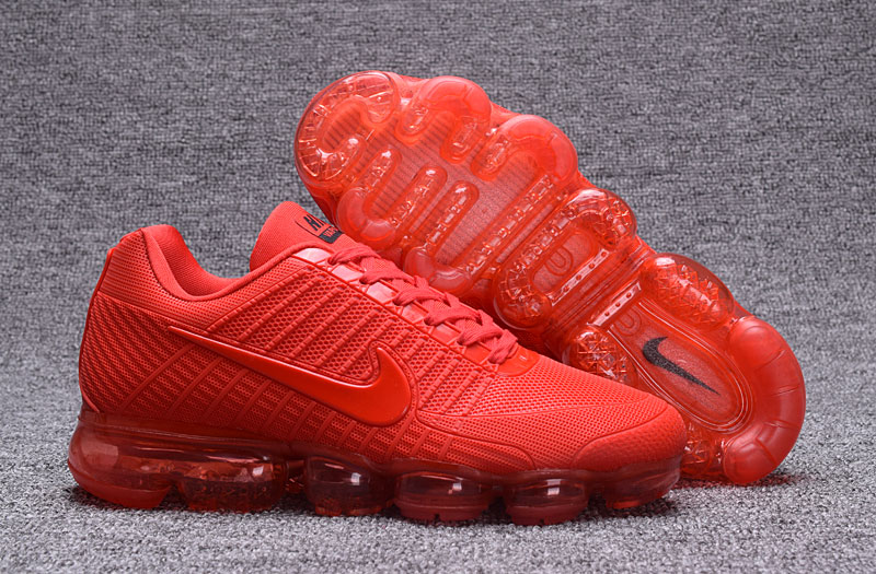 Nike Air VaporMax Flyknit All Red Shoes
