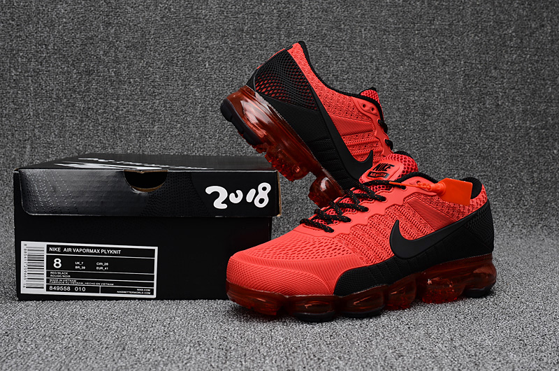 Nike Air Vapormax Flyknit Red Black Shoes