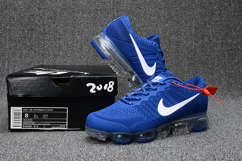 Nike Air Vapormax Flyknit Royal Blue White Shoes