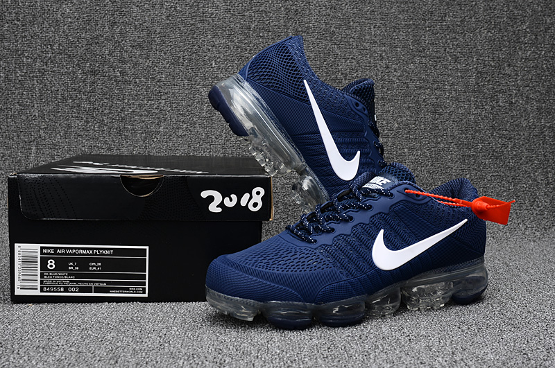 Nike Air Vapormax Flyknit Sea Blue White Shoes